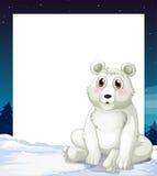 An empty template with a polar bear Stock Photo