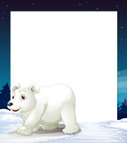 An empty template with a polar bear Royalty Free Stock Photography