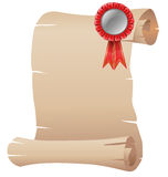 An empty template with a red ribbon Royalty Free Stock Photography