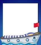 An empty template with a ship Royalty Free Stock Photos