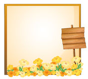An empty template with a wooden signage Royalty Free Stock Image