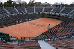 Empty Tennis Court Stock Photography