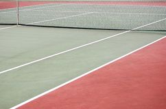 Empty tennis court Royalty Free Stock Image