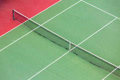 Empty Tennis court background. Aerial shot Royalty Free Stock Photography