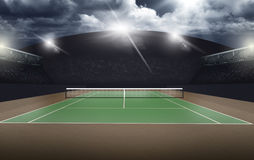 Empty Tennis Court, sport concept Stock Images