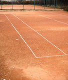 Empty tennis courts in autumn park Royalty Free Stock Photography