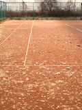 Empty tennis courts in autumn park Stock Image