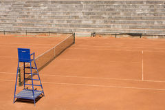 Empty tennis courts view outdoor Royalty Free Stock Images