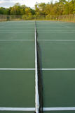 Empty tennis courts, wideangle from center Stock Image