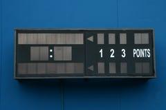 Empty Tennis Scoreboard Stock Image