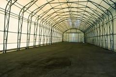 Empty tent warehouse Stock Image