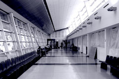 Empty terminal. A rare time when you don't see people in an airport terminal stock image
