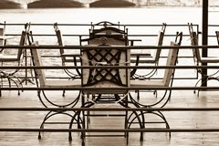 Empty terrace Royalty Free Stock Image