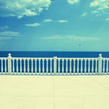 Empty terrace overlooking the sea Royalty Free Stock Photography