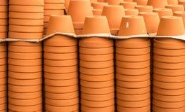 Empty terracotta pots Stock Image