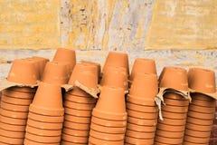 Empty terracotta pots Stock Photo