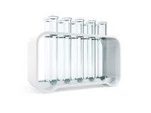 Empty test tubes Stock Photo