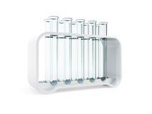 Empty test tubes. 3d render stock illustration
