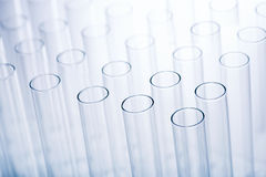 Empty test tubes in a rack Royalty Free Stock Photography
