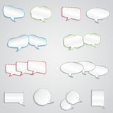 Empty text box of different shapes Stock Photography