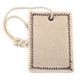 Empty textile tag on white Royalty Free Stock Photography