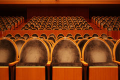 Empty theater. Empty velvet seat in a theater Stock Photography