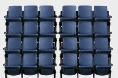 Empty theater auditorium or cinema with blue seats Stock Images