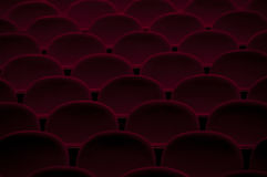 Empty Theater Chairs  Royalty Free Stock Image