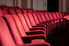 Empty Theater Chairs Royalty Free Stock Photography