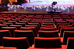 Empty theater chairs Stock Photography