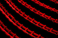 Empty Theater Chairs Stock Image