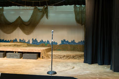 Empty theater or drama stage royalty free stock photography