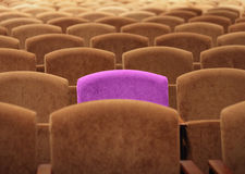 Empty theater with one exclusive unique seat Royalty Free Stock Photo