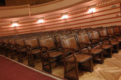 Empty theater room Stock Images
