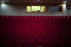 Empty Theater Seating. Red seating. indoor royalty free stock photo