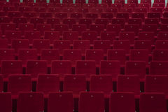 Empty Theater Seating. Red seating. indoor stock images