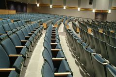 Empty theater seats. Rows of empty theater seats Stock Photo