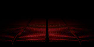 Empty theater seats Stock Images