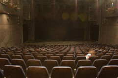 Empty theater seats Royalty Free Stock Image
