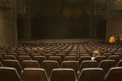 Empty theater seats Royalty Free Stock Images