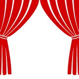 Empty theater stage, Theater stage icon. On white background Royalty Free Illustration