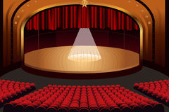 Empty Theater Stage Stock Images