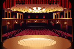 Empty Theater Stage Royalty Free Stock Image