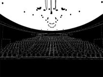 Empty Theater Vector 01 Stock Photography