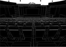 Empty Theater Vector 02 Royalty Free Stock Photos