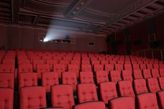 Empty theatre auditorium cinema Stock Image