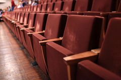 Empty theatre. Interior of the empty theatre in the evening Royalty Free Stock Image