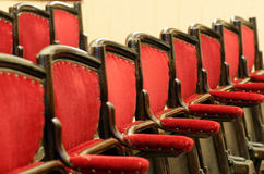 Empty theatre seat rows Stock Photography