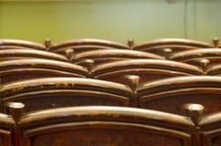Empty theatre seat rows Stock Image