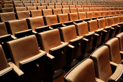 Empty Theatre Seating. Endless tiers of empty theater seating royalty free stock image
